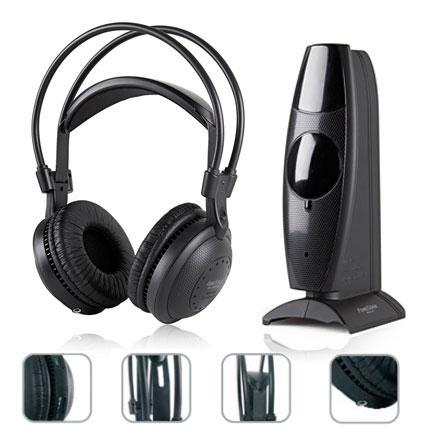 E-Nuc Auriculares Inalámbrico FA-8060 (Sistema Inalámbrico Auriculares Estéreo Hi-Fi