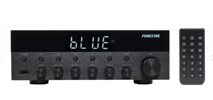 E-Nuc Amplificador Estéreo Bluetooth/USB/FM AS-1515 (Amplificador Estéreo Hi-Fi, Rec