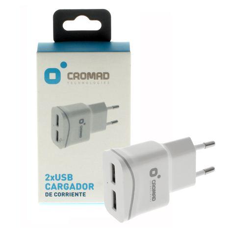 Cargador de Corriente 2.1A CROMAD 2x USB Blanco