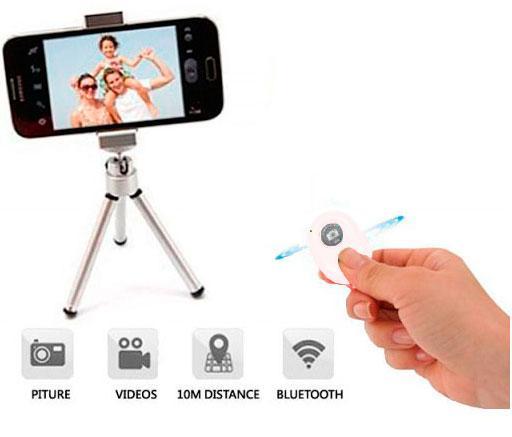 Disparador Cámara remoto Bluetooth Blanco