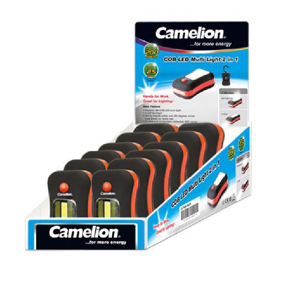 Linterna Profesional LED 3W COB 2 en 1 Camelion