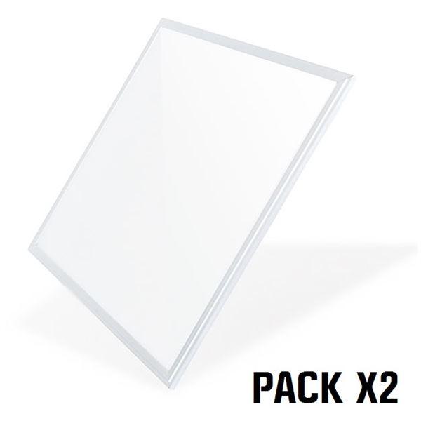 Pack 2 Paneles LED 60x60 40W Luz Fría ELBAT
