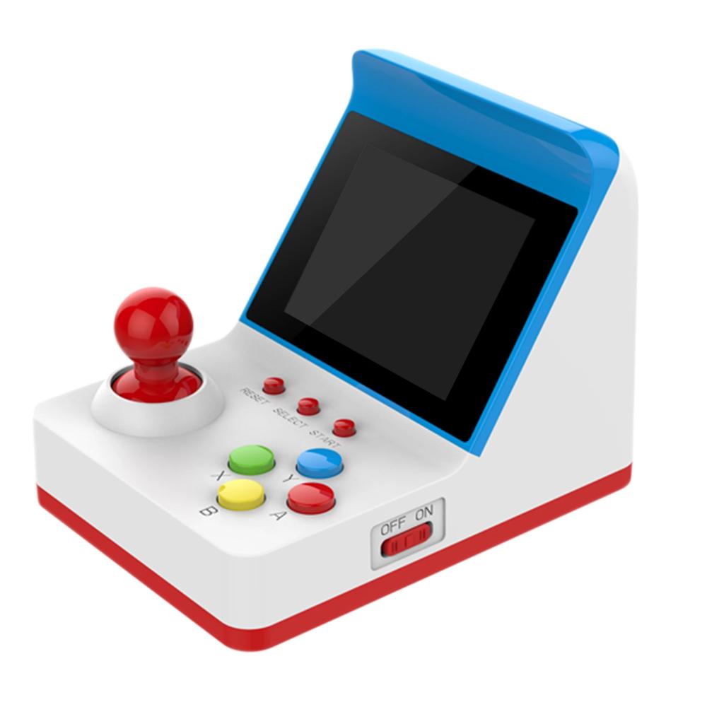 Consola Mini Recreativa Arcade Retro 360 Juegos Azul/Blanco