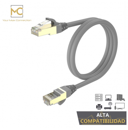 Pack 2 Cables Ethernet CAT7 RJ45 F/STP 1m Max Connection