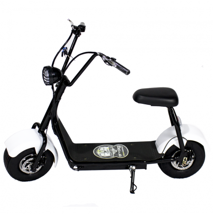 CityCoco MINI 1000W/48V/12aH/Litio Blanco Gran-Scooter