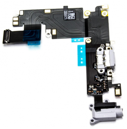 Conector Carga + Audio + Microfono Flex iPhone 6 Plus Blanco