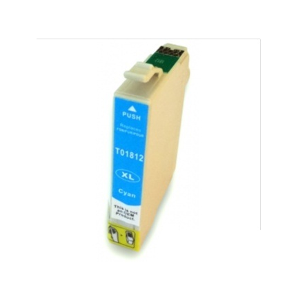 Cart. Epson T1812/T1802 Cyan 15ml (reman.)