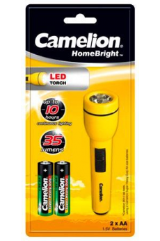 Linterna LED HomeBright 2xAA Camelion