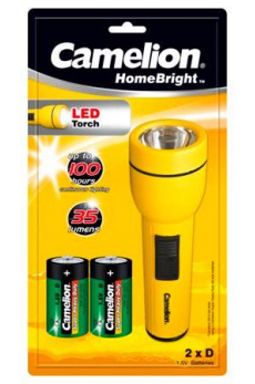 Linterna LED Homebright 3V 2xD/R20 Camelion