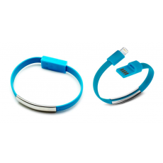 Pulsera Cable Carga/Datos Lightning Azul