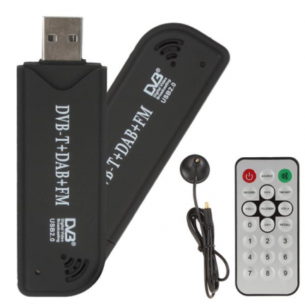 Receptor USB Mini Digital TV-DVBT + Mando y Antena