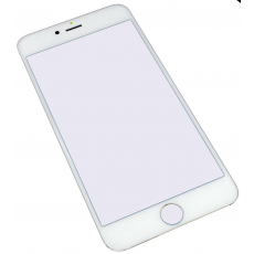 Cristal Pantalla iPhone 6 Plus/6S Plus Blanco