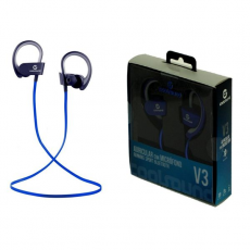 Auricular + Micrófono Running Sport V3 Bluetooth 4.1 COOLSOUND Azul