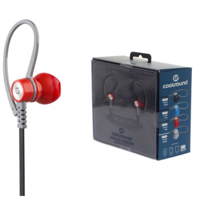 Auricular + Micro Sport V5 Bluetooth + Micro SD Rojo Coolsound