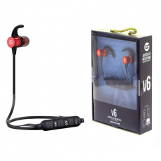 Auricular + Micro Sport V6 Bluetooth + Micro SD Rojo Coolsound