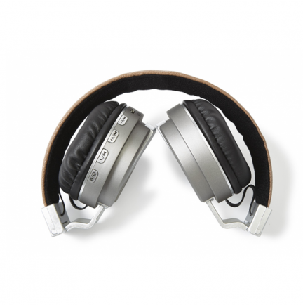 Auriculares Bluetooth 4.1 con Reproductor MicroSD/MP3/Radio FM Gris Fonestar