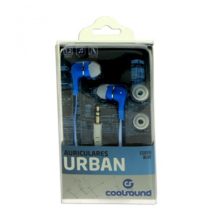 Auriculares Urban In-Ear Azul COOLSOUND