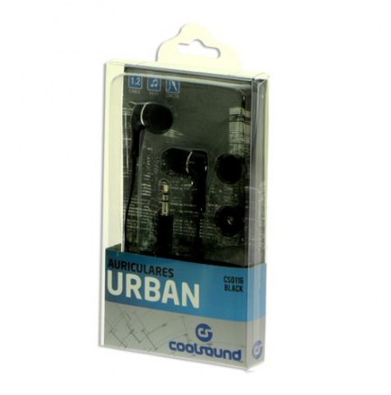 Auriculares Urban In-Ear Negro COOLSOUND