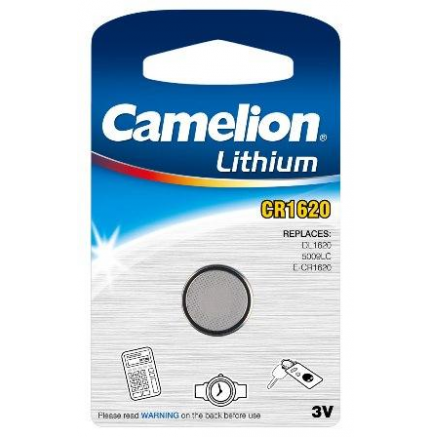 Boton Litio CR1620 3V (1 pcs) Camelion