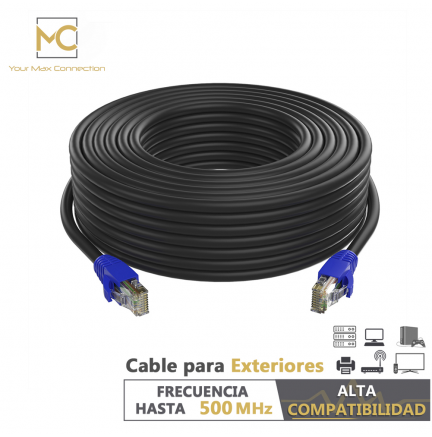 Cable Ethernet CAT6 26AWG Exteriores 60m Max Connection