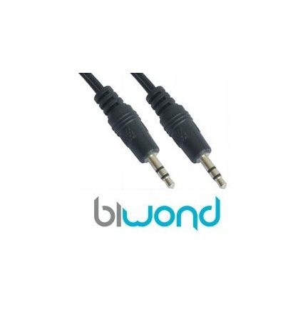 Cable Audio Estereo Jack 3.5mm 0.3m BIWOND