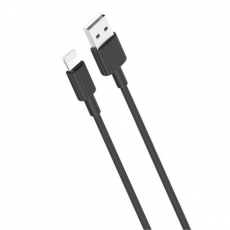 Cable NB156 Silicona USB a Lightning / 2.4A / 1M / Negro XO