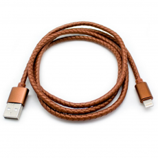 Cable USB a Lightning 8 Pines (Carga & Transferencia) Piel 1m Biwond