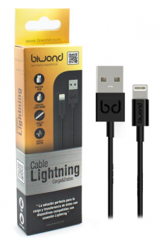 Cable Datos y Carga iPhone 5/5C/5S/6/6+/6S/7 (IOS10) Gold Negro Lightning