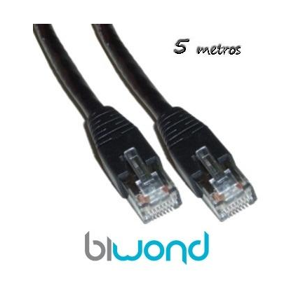 Cable Ethernet 5m Cat 5 BIWOND
