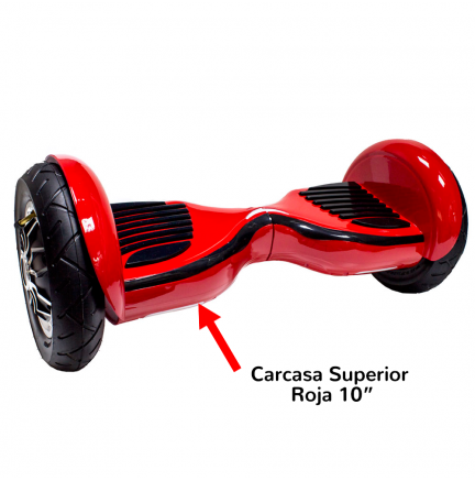 "Carcasa Superior Scooter Smart Balance 10"" Roja"
