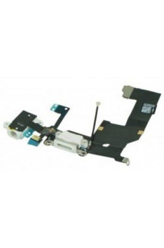 Conector Blanco Carga + Audio Flex iPhone 5