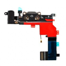 Flex Conector Carga+Audio+Microfono Negro Iphone 5S