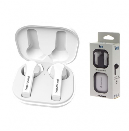 Earbuds Tws V11 Touch Bluetooth Blancos