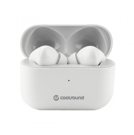 Auriculares Earbuds TWS V14 Touch Bluetooth Blancos COOLSOUND