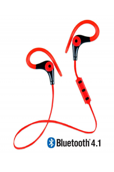 Running Earphones Sports Bluetooth + Micro Biwond Rojo