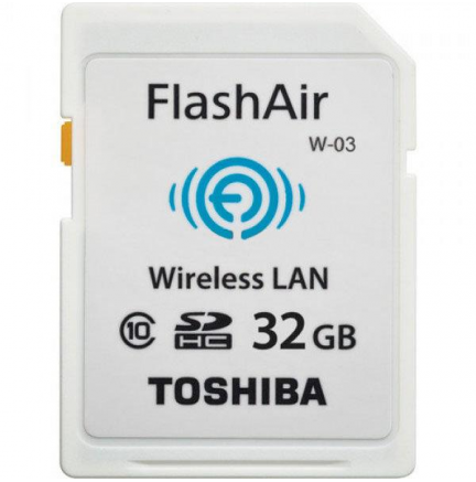 SD WiFi 32 Gb Flash Air Clase 10 Toshiba