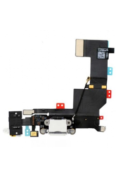 Flex Conector Carga+Audio+Microfono Blanco Iphone 5S