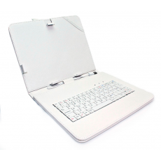 "Funda Tablet Teclado 9"" Blanca"