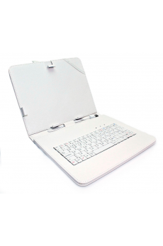 "Funda Tablet Teclado 8"" Blanca"