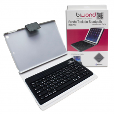 Funda teclado Bluetooth iPad Air Rosa Biwond