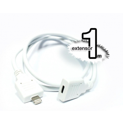Extensor Lightning iPhone 5/6/7 1M (Blanco)