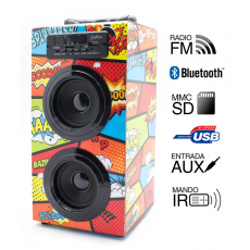 Reproductor JoyBox Bluetooth Comic Biwond