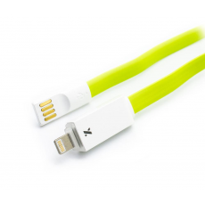Cable Lightning Plano LED  Iphone/Ipad Verde