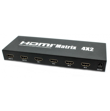 Splitter Switch Matrix 4x2 HDMI Biwond
