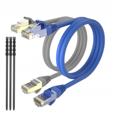 Pack 2 Cables Ethernet CAT7 RJ45 F/STP 0.5m Max Connection