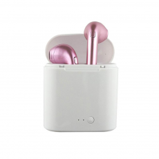 Mini Auriculares Bluetooth i7S (IOS/Android) Rosa
