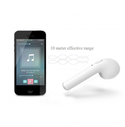 Mini Auriculares Bluetooth i7S (IOS/Android) Blanco