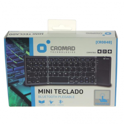 Mini Teclado Bluetooth con Touchpad Plegable CROMAD