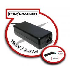 Carg. Ultrabook 19.5V/2.31A 4.5mm x 3.0mm 45W Pro Charger