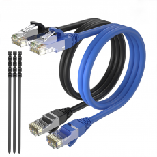 Pack 2 Cables Ethernet CAT6 RJ45 24AWG 10m + 15 Bridas Max Connection